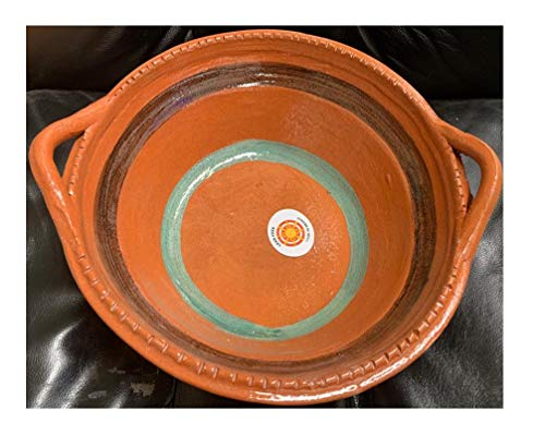 Made in Mexico Cazuela Raya Verde Bowl 14