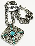 Brighton Primrose Pendant Silver Plated Howlite Necklace