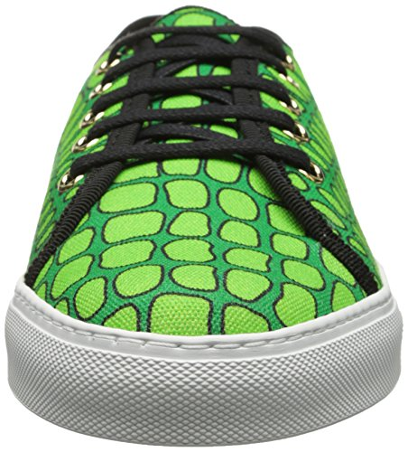 Moschino Economico E Chic Donna Rettile Stampa Moda Sneaker Verde