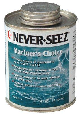 Never-Seez NMCBT-16 Black Gray Mariners Choice Anti-Seize, 16 fl. oz. Brush Top Can