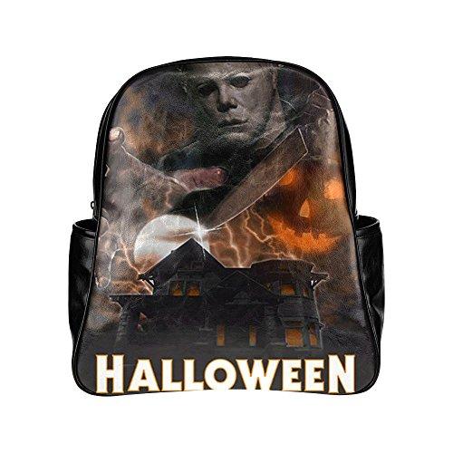 [Navarro Halloween October 31 Jack O Lantern Unisex Multi Pocket Shoulders Backpack] (Lock Shock And Barrel Costumes For Kids)