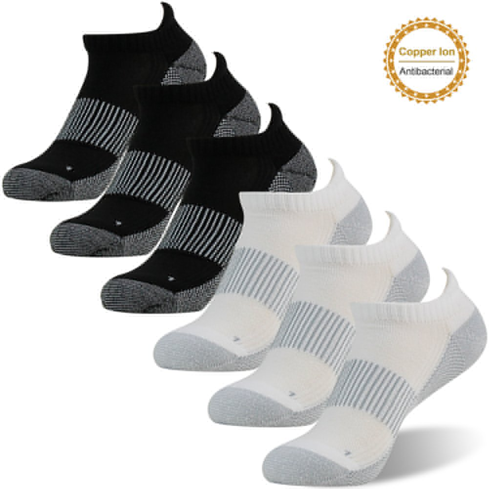 FOOTPLUS SOCKSHOSIERY メンズ B07CZZGHY6 Medium|6 Pairs-3 White Ankle&3 Black Ankle. 6 Pairs-3 White Ankle&3 Black Ankle. Medium
