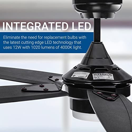 Hyperikon 56-Inch Black Ceiling Fan