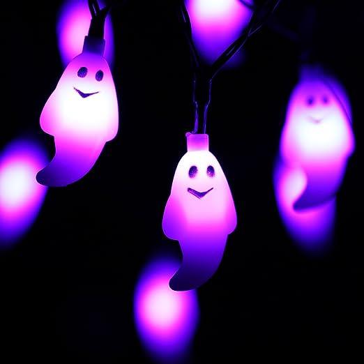 5 opinioni per RECESKY Viola Fantasma Luci di stringa- 20 LED 2.5m Halloween Catene luminose-