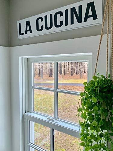 La Cucina Sign Italian Kitchen Wall Decor Cucina Kitchen Sign Signs For The Kitchen Tuscan Wall Decor Italian Kitchen Decor Amazon Ca Home