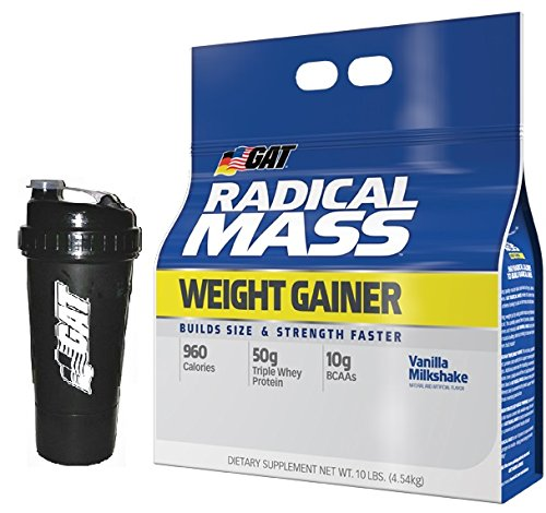 GAT Radical Mass Weight Gainer 10lbs W/Shaker (Vanilla Milkshake)