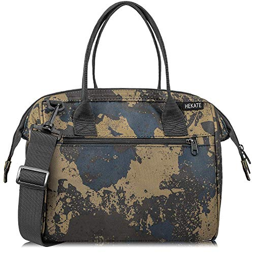 (HEKATE Lunch Bags for Women, Insulated Lunch Tote Bag Camouflage Crossboby Shoulder Handbag Water-resistant Thermal Lunch Bag)