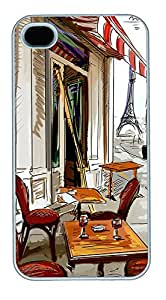 iPhone 4 4s Cases & Covers - Paris Art Custom PC Soft Case Cover Protector for iPhone 4 4s - White