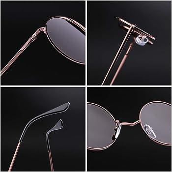 Amazon.com: Gafas de sol redondas y retro, para hombre y ...