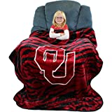 "College Covers Oklahoma Sooners Super Soft Raschel Throw Blanket, 50"" x 60"""