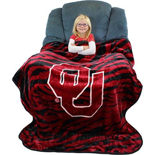 College Covers Oklahoma Sooners Super Soft Raschel Throw Blanket  50  X 60