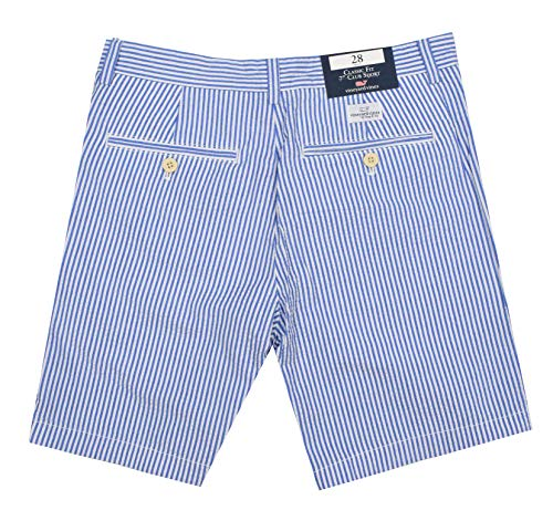 Vineyard Vines Men's 7 Inch Cotton Seersucker Club Shorts (Seersucker, 32) (Vineyard Vines Club Shorts)