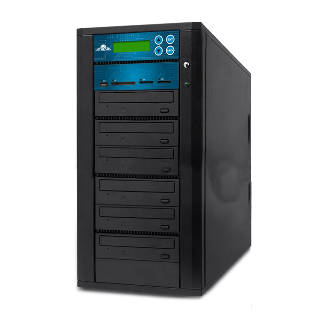 Acumen Disc DV-905-SSP Flash Memory Drive to Media Disc Duplicator with 1-5 Target DVD/CD Burners (with MS, CF, SD, MMC, USB Slots)