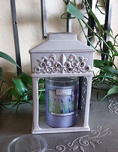 Candle Waermer Lantern - Ceramic - Fleur De Lis