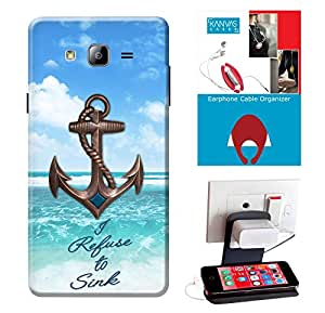 Samsung Galaxy On5 Accessories Combo, Premium Quality Designer Printed 3D Lightweight Slim Matte Finish Hard Case Back Cover for Samsung Galaxy On5 + Free Earphone Cable Organizer + Mobile Charging Holder/Stand