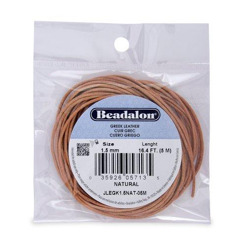 Beadalon Greek Leather Natural 5 Meter