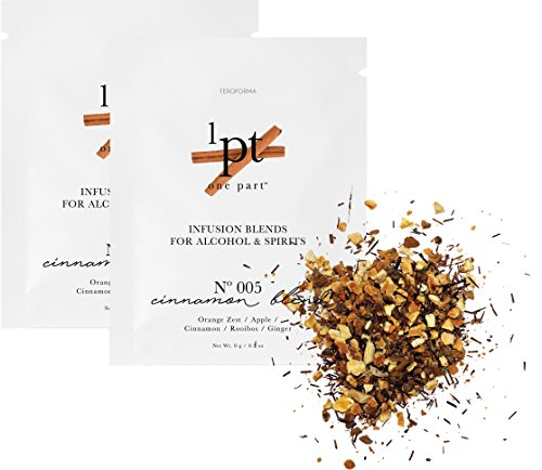 Teroforma 1pt CINNAMON Infusion Blend for Alcohol & Spirits – Flavor Infuser Packets for Home Infusion (Single Pack, 2 Packets) (Infusion Rum)
