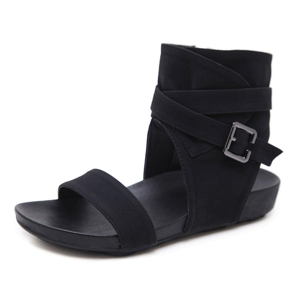 Offene Sandalen Sandalen Damen Sommer Gürtelschnalle Römische Römische Römische Hohe Schuhe (Farbe   2 , größe   EU36 UK3.5 CN35) 591ab6