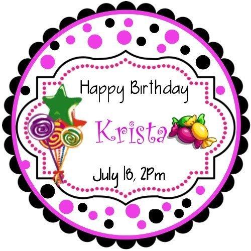 (40 Sweet Shoppe Personalized Birthday Stickers 2