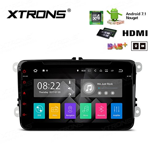 XTRONS HDMI Android 7.1 Quad Core 8 Inch HD Digital Touch Screen Car Stereo Radio DVD Player GPS for VW Golf Polo Passat Seat