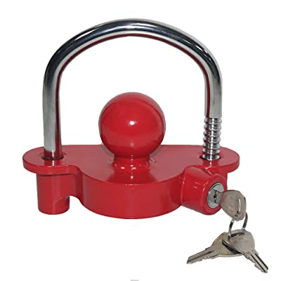 OPENROAD Universal Coupler Lock,RED Towing Hitch Lock: Automotive