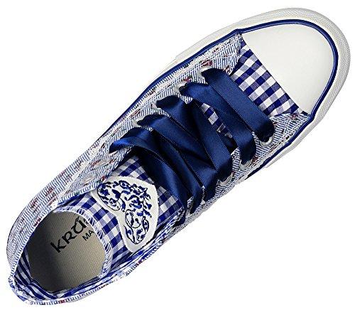 Kruger Madl Dames Sneaker Floret High-top Blue