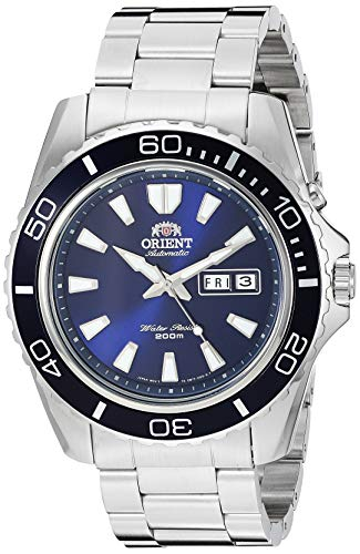 Orient Men's 'Mako XL' Japanese Automatic Stainless Steel Diving Watch, Color:Silver-Toned (Model: FEM75002DW)
