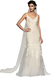 8172f75bb7ae Plus Size Melissa Sweet Floral Wedding Dress with V-Neckline Style ...