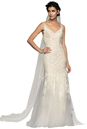David\'s Bridal Melissa Sweet Illusion Lace Mermaid Wedding Dress ...
