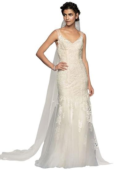 e66ba56bd6304 Melissa Sweet Illusion Lace Mermaid Wedding Dress Style Ms251150 At
