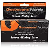 Deeveeant® Numbing Cream 2 oz - Premium Lidocaine Anesthetic Pain Relief - Tattoo