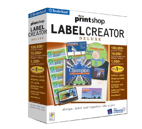 - The Print Shop Label Creator Deluxe