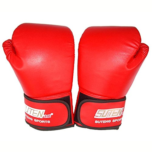 1 Pair PU Leather Boxing Gloves Men Half Finger Sport Muay Thai Gloves Mma Kick Boxing Mittens Training Boxing