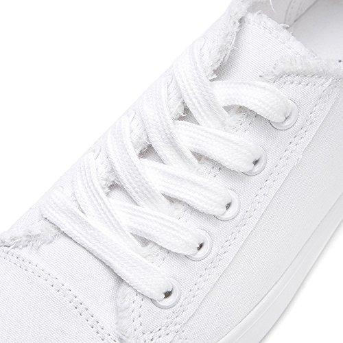 XIA&Sportschuhe Frühlings-einzelne Schuh-Freizeit-flache Bindung Die Schnürsenkel-weiße Schuh-Turnschuhe Im Freien