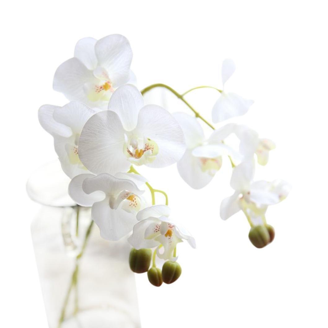 fzz698フェイク花、partydecor、胡蝶蘭花、ホーム&リビングホームインテリアテーブル装飾 ホワイト FZZ-01-0003 B07G2GT6MP A