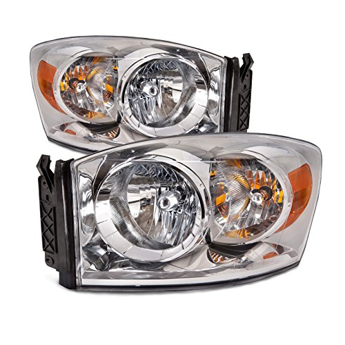 3500 Pickup Headlight Headlamp (Dodge Ram Pickup OE Style Replacement Headlight Headlamp Pair )