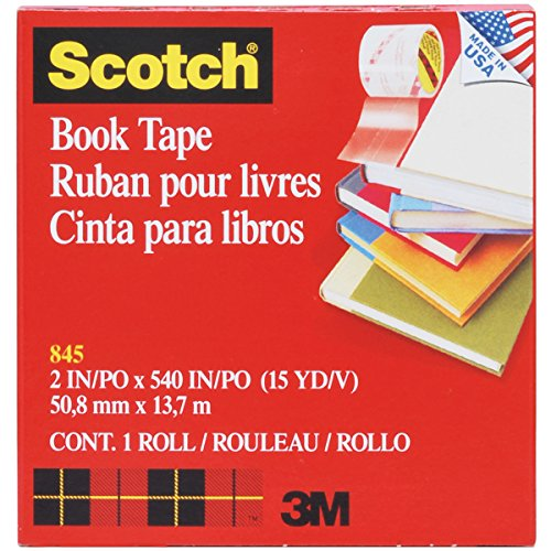 Scotch Book Tape , 2 Inches x 15 Yards, (845)