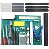 BXQINLENX Professional 33 PCS Gundam Model Tools Kit Modeler Basic Tools Craft Set Hobby Building Tools Kit for Gundam…