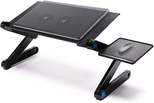 Mesa plegable y ajustable para laptop Longko, mesa de soporte de ...