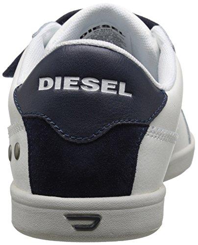 DIESEL - Baskets basses - Homme - Baskets à Scratch Blanches et Bleues Gotcha Strap pour homme
