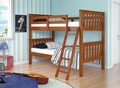 Donco Kids Twin Over Twin Mission Bunk Bed For Sale