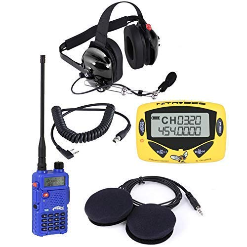 Rugged Radios APB-LITE Audio Pit Board Lite Training Kit - Includes RH5R Radio, H42 Headset, Headset Cable, Nitro Bee Race Receiver & Helmet Speakers