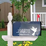 VictoryStore Mailbox Cover Outdoor Decoration, Philippians 4:13, Religious Design 5, Magnetic Mailbox Cover
