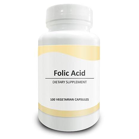 Pure Science Ácido fólico 1000mcg - Régimen de salud general y cuidado prenatal para mujeres,