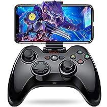 iPhone コントローラー Bluetooth 接続 無線 ワイヤレス Pro プロ コントローラー [メーカー3年保] PXN 専属無料APP ゲームパッド iPhone プロコン コントローラ Apple MFI認証 日本MIC認証 iPhone iPad iPod touch 対応 PUBGに非対応 黒