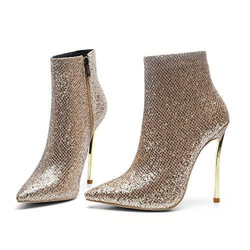 Fashion Fashion Grandi Dimensioni Paillettes Stivaletti Donna Donna Donna Glamour da Stivali Oro Donna Stiletto da Stivali di con Temperament Shirloy 7ZpFAq5Z