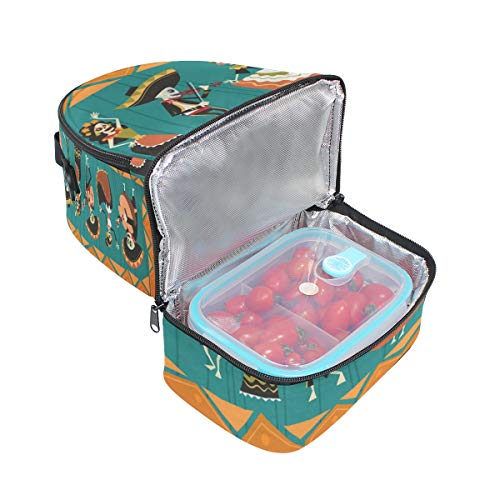 Top Carpenter Lunch Box Adult Lunch Bag Insulated Food Storage Containers Traditional Halloween Double Deck For Kids ()