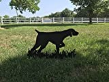 German Shorthaired Pointer silhouette cut out of black plastic - (for outside or inside)