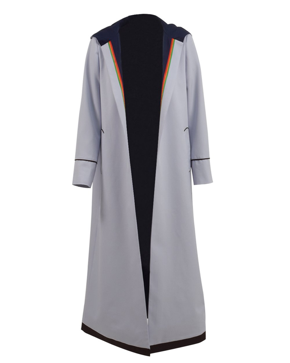 TISEA Womens 13th Doctor Long Trench Who Is Doctor Cosplay Costume (XXL, Grey Coat) by TISEA