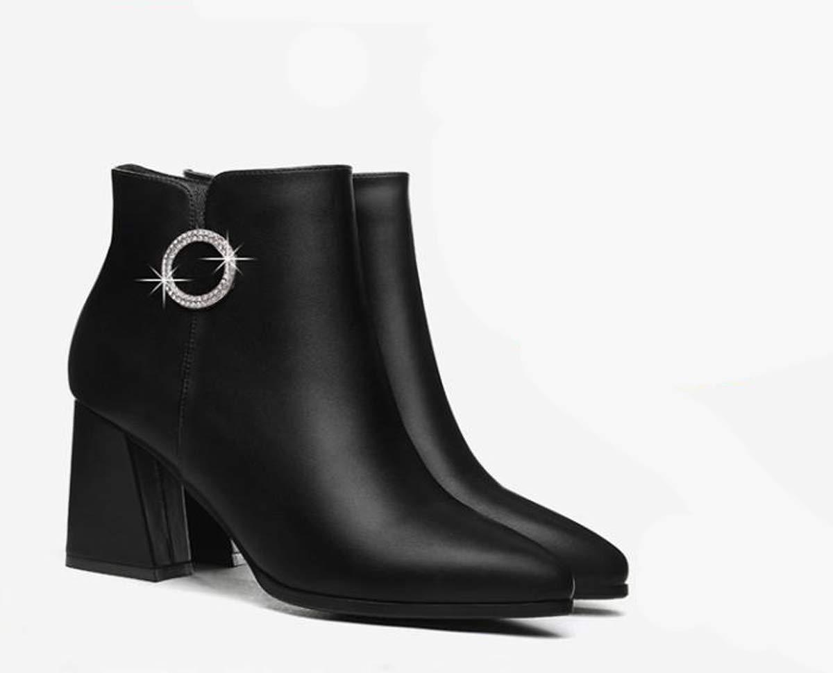 GTVERNH Frauen Schuhe/Frühjahr Stiefel Jugend Seite Reißverschluss Wasserdicht Sagte TIPP